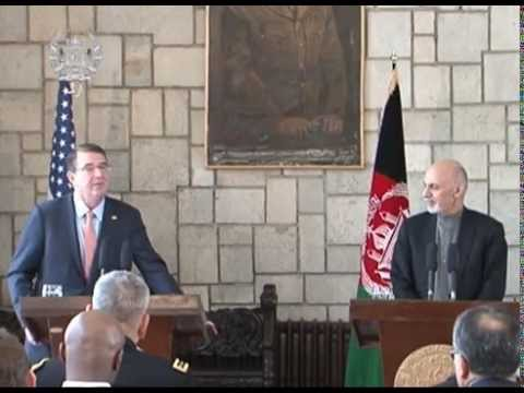 President Ghani and U.S. Defense Sec. Ash Carter Joint Press Conference - Feb 21, 2015