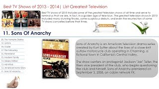 Best TV Shows Series Films of 2013 - 2014 Top 20 List Greatest Television