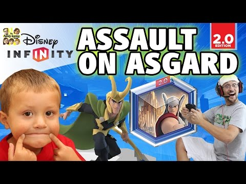 ASSAULT ON ASGARD: Disney Infinity 2.0 Tower Defense w/ Dad & Chase (Marvel Super Heroes)