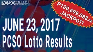 Lotto Result June 23, 2017 (6/58, 6/45, 4D, Swertres & EZ2)