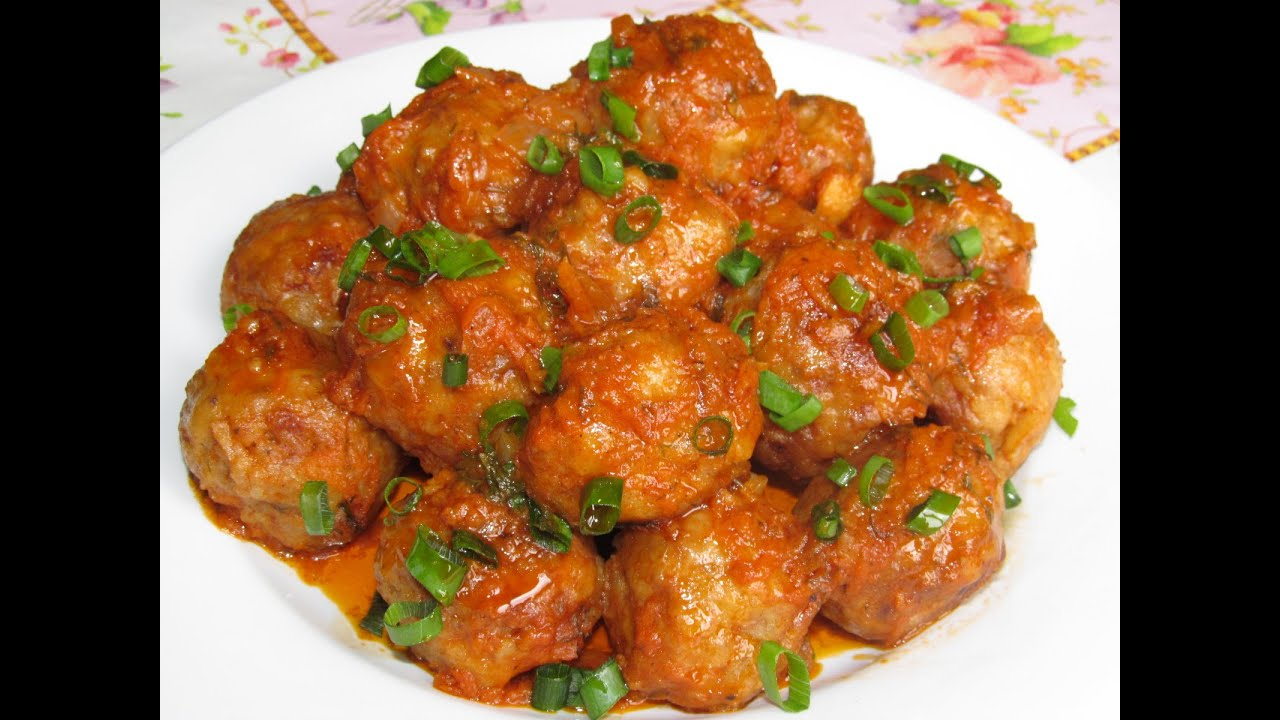 Тефтельки рисом в томатном соусе рецепт