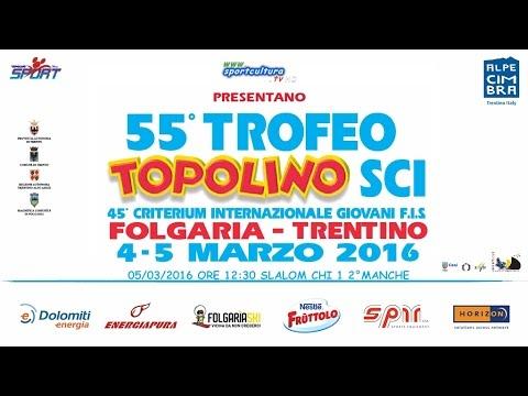 Trofeo Topolino Sci 2016 SLALOM CHI 1 2° MANCHE #sport #sci #live