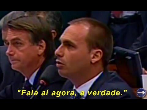 Eduardo Bolsonaro encara 'valentão' do MST/Contag que ameaçou invadir propriedades a mando do PT