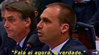 ➜ Eduardo Bolsonaro encara 'valentão' do MST/Contag que ameaç0u invadir propriedades a mando do PT