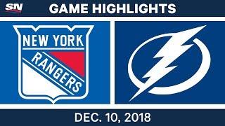 NHL Highlights   Rangers vs. Lightning - Dec 10, 2018
