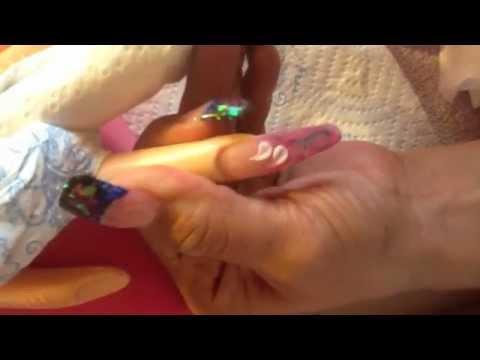 Nail design With Form...Dise~o de con forma y gota de arte