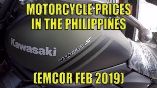 Motorcycle Prices In The Philippines (Emcor Feb 2019)