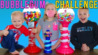 Bubble Gum Race || Giant & Tiny Dubble Bubble Gumball Machines