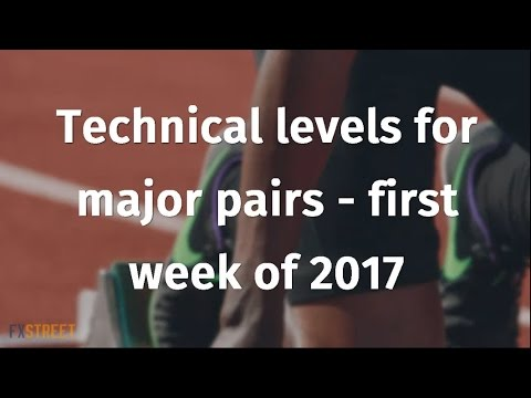 Technical levels for major pairs - first week of 2017