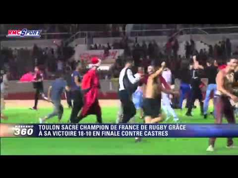 Rugby / Top 14 / Les supporters toulonnais exultent au stade Mayol - 31/05