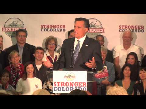 Mitt Romney Rally for Bob Beauprez