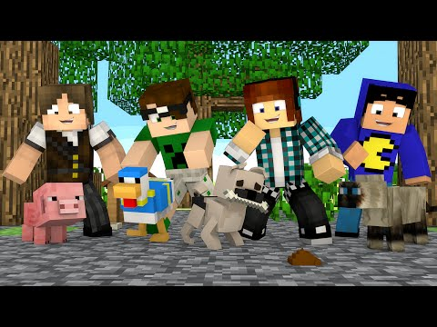 Minecraft: ANIMAIS DOS YOUTUBERS !! - Casa Dos Youtubers #02