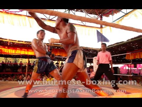 Lethwei Burmese Boxing [HD] - Fight Tournament near Eindu (4) - Kayin State Myanmar - Thingyan 2013 Image 1
