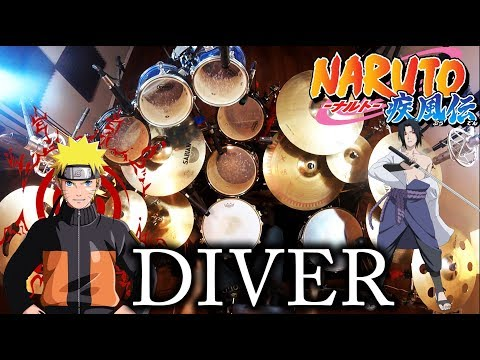 Kin | Naruto Shippuden 8th Opening | DIVER | Drum Cover (Studio Quality)
