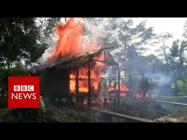 Who is burning down Rohingya villages? - BBC News