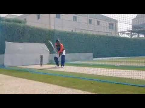 Rohit Sharma batting in nets