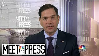 Full Rubio On Mueller Report: 'Absolutely, I Want To See All Of It' | Meet The Press | NBC News