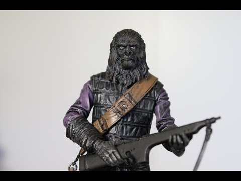 NECA Gorilla Soldier Planet of the Apes figure review