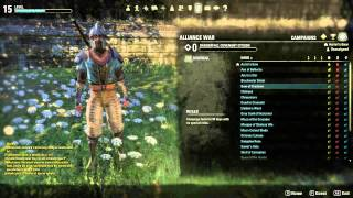 Elder Scrolls Online (ESO) How to Enter,  Exit, Leave or Change Cyrodiil Map Tutorial