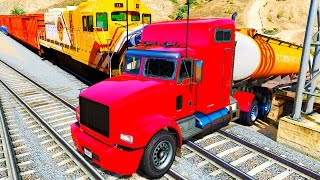 COLOR Truck in Trouble with Trains & Nursery Rhymes Songs for Kids