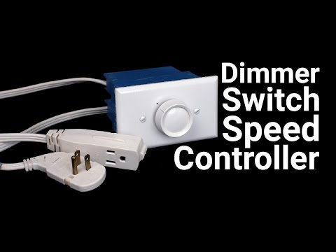 How To Make a Speed Controller from a Dimmer...