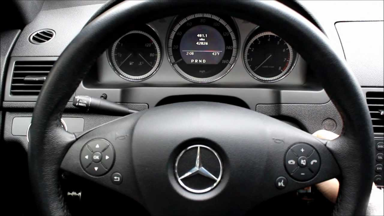 Mercedes Benz C Class W204 Service Indicator Reset Youtube