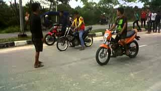 satria fu RBR tech predator vs fu orange handoko
