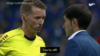 Valencia manager uses ILLEGAL phone call after getting sent off