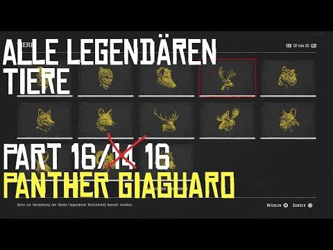 RED DEAD REDEMPTION 2 | JAGEN | ALLE LEGENDÄREN TIERE PART 16/14 Der Panther Giaguaro