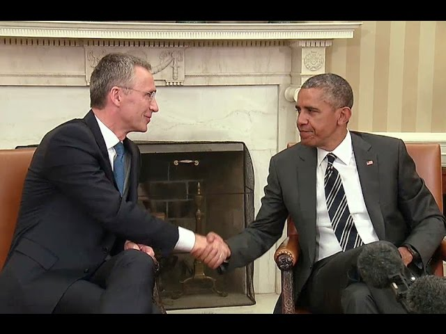 The President Meets with the Secretary General of NATO