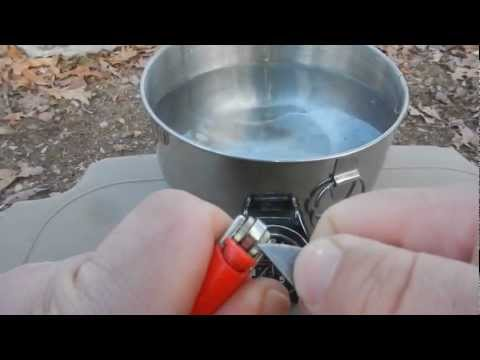How to light a wet BIC lighter