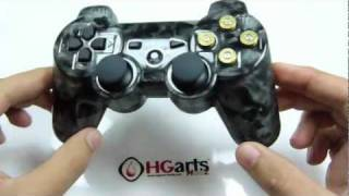 Silver Skullz Edition HD - PS3 Controllers | HG Arts Modz