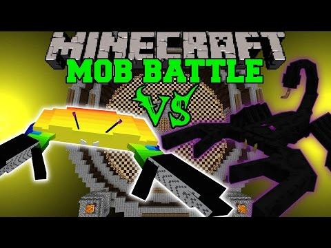 GIANT CRAB VS EMPEROR SCORPION - Minecraft Mod Showcase - Mob Battle