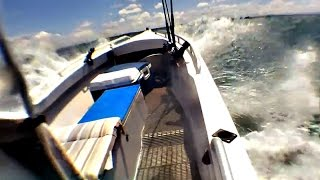 18ft Alloy Panga in 25 knot winds