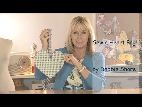 Sewing a Valentines heart bag by Debbie Shore