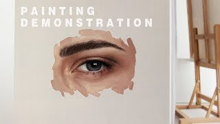 OIL PAINTING DEMONSTRATION #1 || How To Paint An Eye