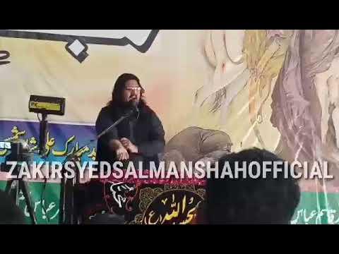 Zakir Syed Salman Hussain shah ka Border per khary ho kr munh toor Jawab