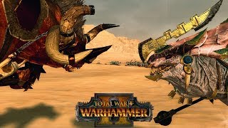 Taurox the Brass Bull vs. Gor-Rok the Great White Lizard - Total War Warhammer Multiplayer Gameplay