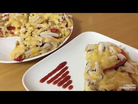 """Skovorodkada kartoshkali ,,Pizza """" tayyorlash/Пицца на сковороде"""