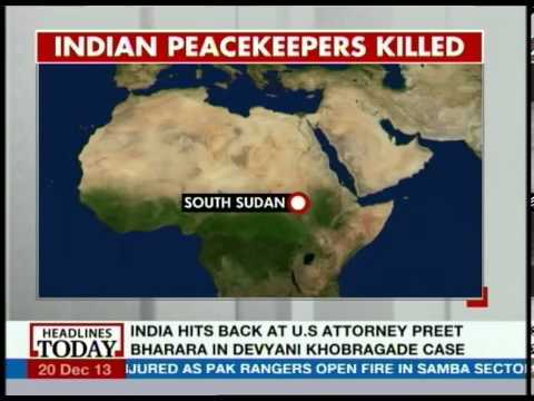 Indian UN peacekeepers killed in South Sudan attack