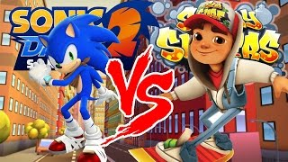 Sonic Dash 2: Sonic Boom VS. Subway Surfers