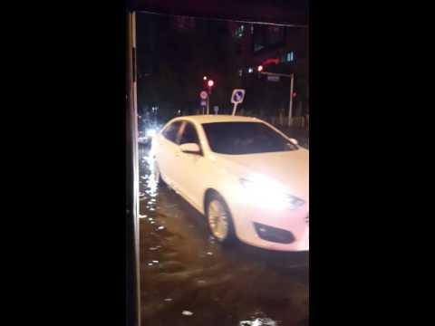 Tuk tuk through the flooding!