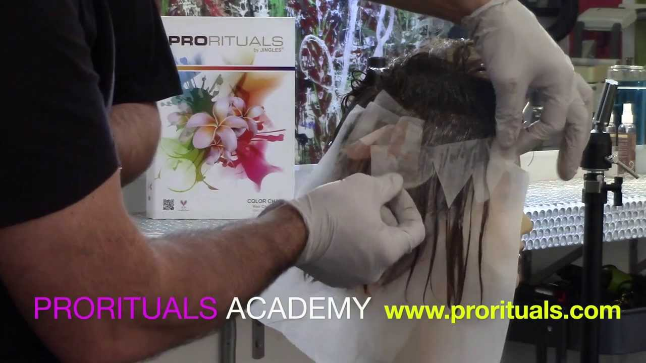 Hair Coloring Technique, Professional Hair Color Education - YouTube