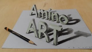 Draw a 3D Art Amino, Magic Letters, Optical Illusion