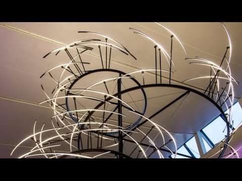 Huge lighting installation at London Heathrow Airport, 2014