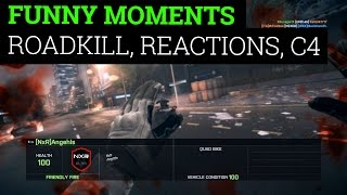 [Battlefield 4 Funny Moments - Road Kill, Team Killing Reaction] Video