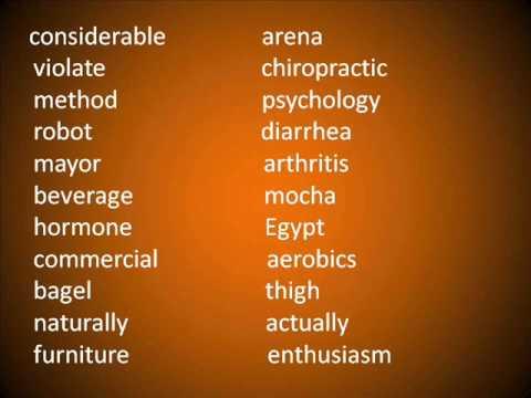 Pronunciación en Inglés 10 [Palabras que Pueden Ser Complicadas Para Pronunciar 3ra. Parte