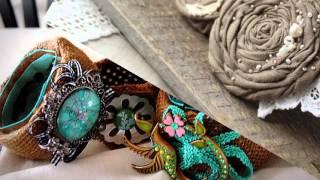 Красивые браслеты, колье и бусы из мешковины. Красивые украшения своими руками