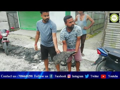 Bad Quality road construction in Bijni Town