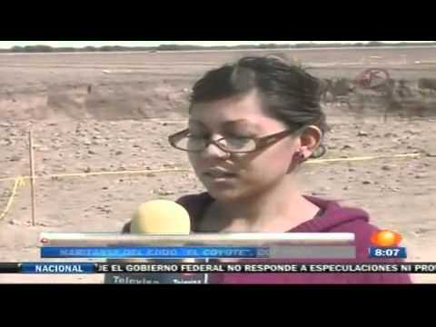 Aparece enorme hoyo en Ejido El Coyote de Matamoros Coahuila